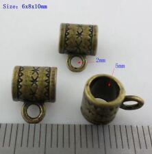 30pcs Tibetan Bronze Connectors Spacer Bail Beads Charms Pendants 6x8x10mm