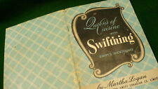 Swiftining swifts shortening pamphlet cook book Martha Logan Queens of cuisine