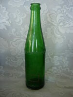 Vintage Collectible MOUNTAIN DEW Green Glass Bottle