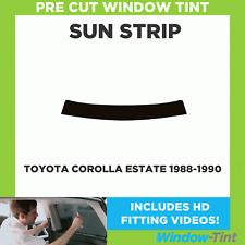 Pre Cut Window Tint - Toyota Corolla Estate 1988-1990 - Sunstrip