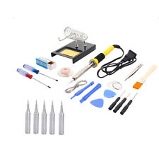 23pcs 110V 60W Electric Soldering Iron Station Welding Tool Weld Kit With 5 Tips