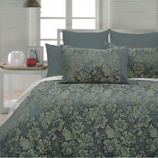 BALWYN Blue GREEN KING Quilt Cover Set Floral Yarn Dyed Jacquard Doona Duvet Set