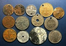 Rough lot of 13 World Coins from 7 countries dated 1902-1958