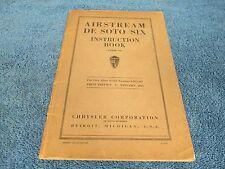 1935 DESOTO  AIRSTREAM SIX INSTRUCTION BOOK  216