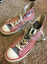 Converse All Star Flag Stars Bars Mens 6 Women 8 RED WHITE BLUE 4th Of July