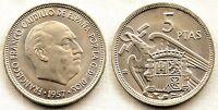 España-Estado Español. 5 Pesetas 1957*69 Madrid. SC/UNC. Niquel. 5,7 g. PERFECTA