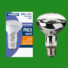 2x 42W (=60W) Halogen R63 Dimmable Clear Reflector Spot Light Lamp ES E27 Bulb