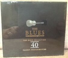 THE BLUES - THE GOLD COLLECTION 40 CLASSIC PERFORMANCES 2CD FATBOX FREE SHIPPING