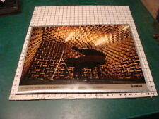 Vintage Original YAMAHA -- PIANO studio photo poster, in original metal frame