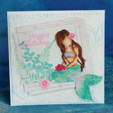 New  Mermaid Metal Dies Cutting Stencils Scrapbooking Card Album Craft Embossing