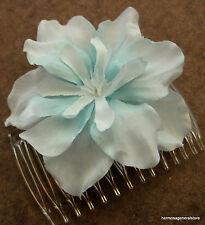 Baby Blue Apple Blossom  Silk Flower Hair Comb,Bridal,Luau,Dance,Wedding