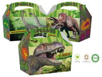 10 Dinosaur Party Food Boxes ~ Childrens Picnic Loot Birthday Party Bag Box