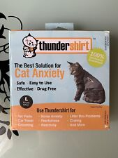 Thundershirt Large Heather Grey Cat For Size Large Cats New in Box $39.99