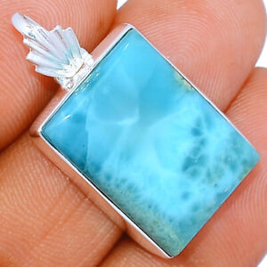 Kyanite Rough Larimar Chalcedony Solid 925 Sterling Silver Pendant Jewelry Blue Pendant Woman Gift Daughter Wife Mom Gypsy Crystal 7635