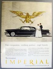 Orig 1958 Chrysler Imperial 2 Door Ad GAY COMPANION WORKING PARTNER REGAL BEAUTY