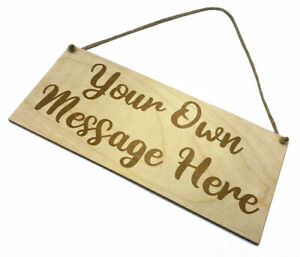 Personalised Wooden Sign Plaque Bespoke Made Customised Wall Door Hanging Gift