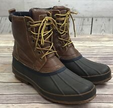 04436102b1b Brooks Brothers Leather Sheep Fur Lined Brown Duck Boots Mens Size 13 D