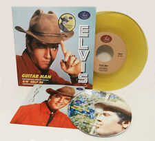 Elvis Collectors GUITAR MAN / HELP ME Jarvis Records 45 RPM + CD (yellow)