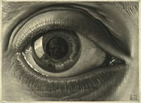 M. C. Escher : Eye : 1946 : Archival Quality Art Print