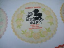 VINTAGE MICKEY MOUSE CHICAGO HERALD AMERICAN COMIC PAGE PROMO PIECE