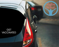 Get Vaccinated Decal Stop The Spread Vaccination Decal For Car Jeep Suv Ford