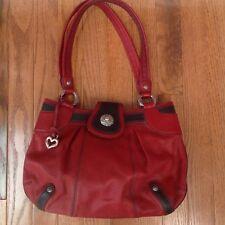 Brighton Women's Handbag Red Leather Satchel Shoulder Purse