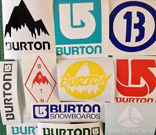 Burton Snowboard Stickers Pack of 12 Classic Burton Logos Diecut Sticker Decals