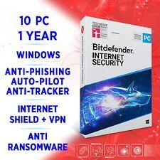 Bitdefender Internet Security 2021 10 PC 1 year / FULL EDITION +VPN