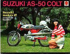 1968-69 Suzuki Colt 50  Model AS-50 motorcycle sales brochure(Reprint) $7.50