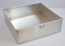Square Aluminium Cake Tin Baking Pan 10""