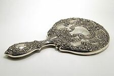 Antique Art Nouveau Gorham Sterling Silver Repousse Mirror