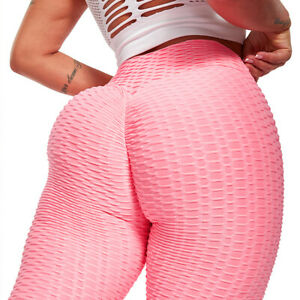 Sexy Anti-Cellulite Yoga Stretch High Waist Fitness Leggings Gym Athletic Pants