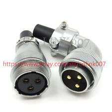 WS28 3Pin Power Connector, 50A Aviation Bulkhead Connector, Right Angle LED Plug
