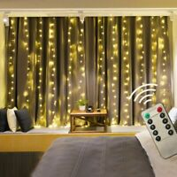 Led Curtain String Light Led Christmas Garland Party Patio Window Decors Lights