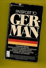 PASSPORT TO GERMAN, Charles Berlitz, 1972, Paperback)
