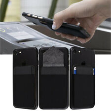 3X Adhesive Pocket Stick On Credit Wallet Cards Holder Pouch Case For Cell Phone