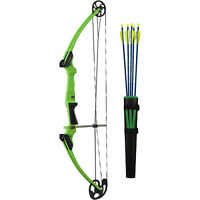 Genesis Archery 10934 Green Original Compound Training Bow Kit, Right Handed