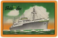 Playing Cards Single Card Old DELTA LINE Shipping Advertising Art Cruise Ship 3