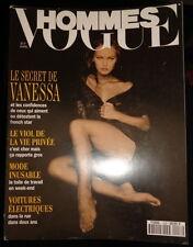 Vogue Hommes 4/1992 Paris Vanessa Paradis Yasmeen Ghauri Paolo Roversi Paris