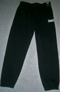Men's Track Pants by Everlast Large in Size Black with White Branding BNWT