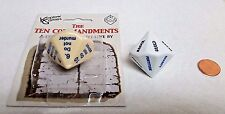 DICE SALE>JUMBO 10-SIDED *TEN COMMANDMENTS* DIE>NEW ON CARD>ALSO SINS & VIRTUES!
