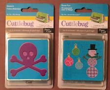 "New listing New Lot of 2 Cuttlebug medium 3"" cut & emboss die & folder sets snowman, skull"