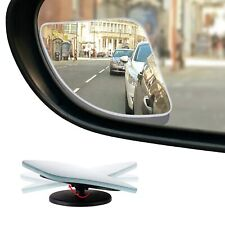 "HD Frameless Blind Spot Mirror - Fan Shaped 2.5"" Convex Glass Mirror - Pack of 2"