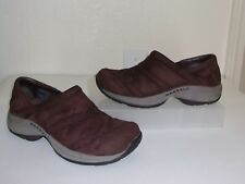 Merrell Brown Suede Shoes Size 7.5 1/2 - 38 Loafers Slip Ons Flats