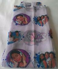 Tenda Disney Violetta confezionata con asole 140x290 cm Col. viola A016