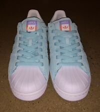 cheap for discount c3232 f9897 adidas Skateboarding Superstar Vulc ADV Aqua Pastel Size 5.5 US Men Skate  Shoes