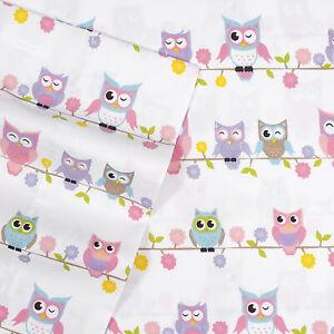Colorful Owls Kids Sheet Set Twin, Twin XL, Full