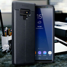 GALAXY NOTE 9 Genuine  Crafted Real Leather Black Shockproof  Book Case Wallet.