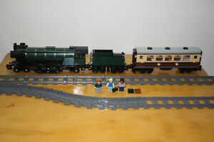 Brand NEW Emerald Night steam Train 10194 fits all Lego train tracks w/ carriage
