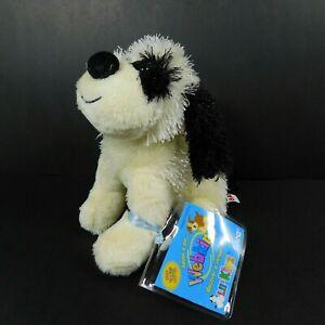 "Ganz Webkinz Lil Kinz B & W Cheeky Dog 5"" Plush Puppy Stuffed HS192 Sealed Code"
